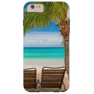 Tropical Palm Trees/ Beach Chairs iPhone 6/6s Plus Tough iPhone 6 Plus Case