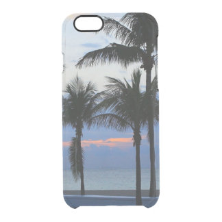 Tropical palm trees beach palm tree dawn dusk uncommon clearly™ deflector iPhone 6 case