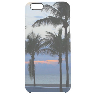 Tropical palm trees beach palm tree dawn dusk uncommon clearly™ deflector iPhone 6 plus case