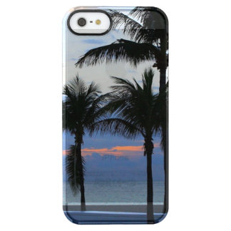 Tropical palm trees beach palm tree dawn dusk uncommon clearly™ deflector iPhone 5 case