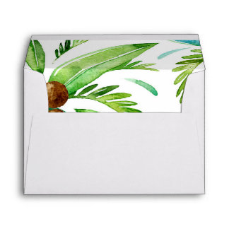 tropical palm trees beach party envelope