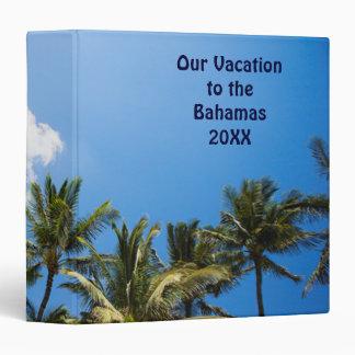 Tropical Palm Trees Blue Sky Binder