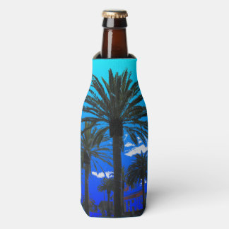 Tropical Palm Trees Bottle Cooler