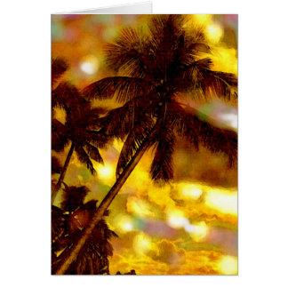 Tropical Palm Trees Card