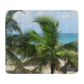 Tropical Palm Trees Cutting Board