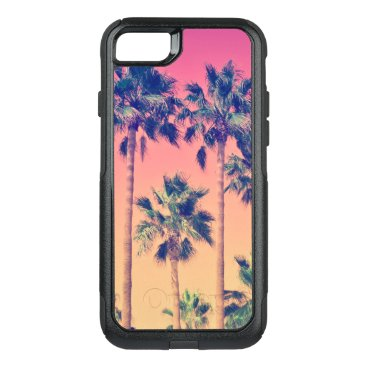 Tropical Palm Trees Girly Design OtterBox Commuter iPhone 8/7 Case