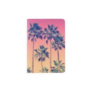 Tropical Palm Trees Girly Passport Holder