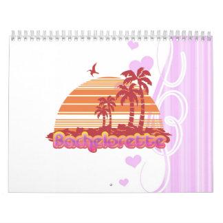 tropical palm trees hawaii bachelorette party calendar