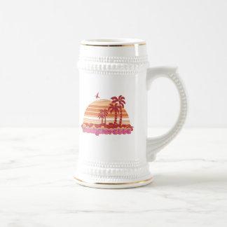 tropical palm trees hawaii bachelorette party mugs