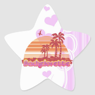tropical palm trees hawaii bachelorette party star sticker