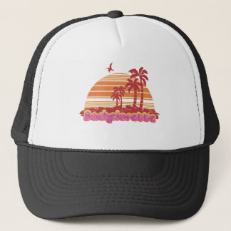 tropical palm trees hawaii bachelorette party trucker hat