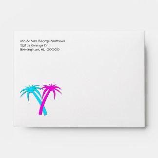Tropical Palm Trees Invitation Envelope