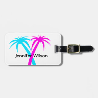Tropical Palm Trees Luggage Tag