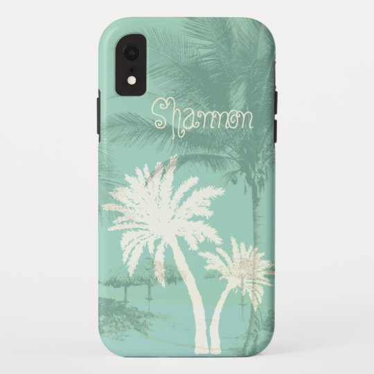 Tropical Palm Trees Personalized Name Template Case Mate Iphone Case