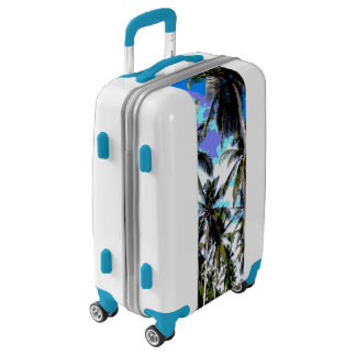 Tropical Palm Trees. Posterised design. Luggage
