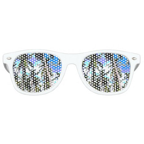 Tropical Palm Trees Retro Sunglasses