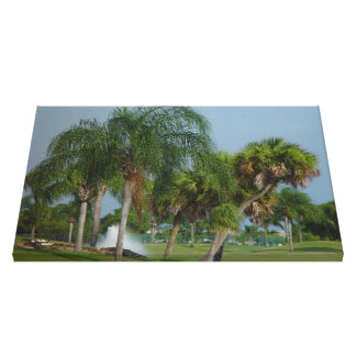 Tropical Palm Trees Stretched Canvas Print