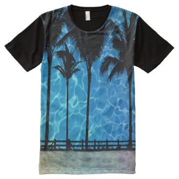 Tropical Palm Trees Summer Graphic T-Shirt