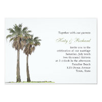 Tropical Palm Trees Wedding Invitation