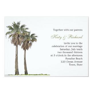 Tropical Palm Trees Wedding Invitation