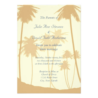 Tropical Palm Trees Wedding Personalized Invite