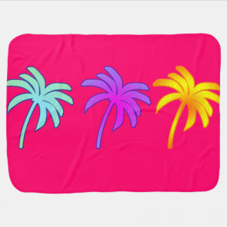 Tropical Palm Trees Receiving Blankets