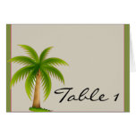 Tropical Palm TreeTable Number tent card Greeting Cards