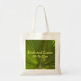 Tropical Palm Wedding Tote Bag