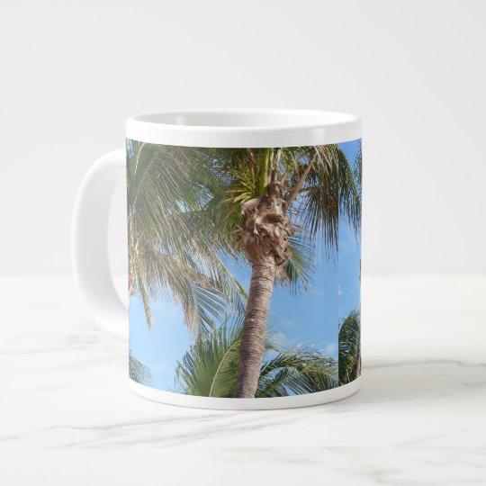 Tropical Palms Against Blue Sky Mug