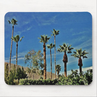 Tropical Palms and Blue Sky Mouse Pad