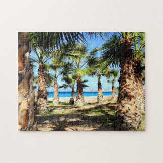 Tropical Palms and Sea Jigsaw Puzzle