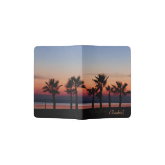 Tropical Palms at Sunset Personalized Passport Holder