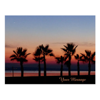 Tropical Palms at Sunset Personalized Postcard