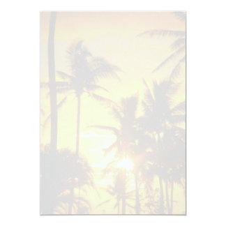 Tropical Palms Blank Printable Wedding Paper Card