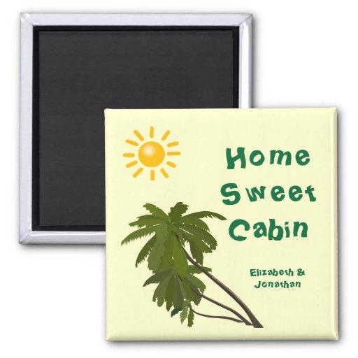Tropical Palms Cabin Door Marker Magnet