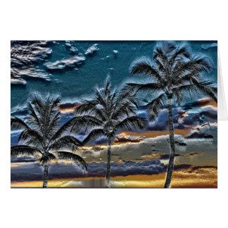 Tropical Palms Card