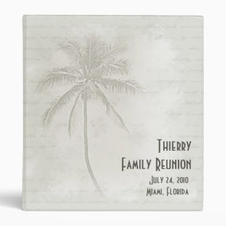 Tropical Palms Family Reunion 3 Ring Binder