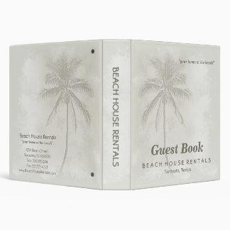 Tropical Palms Guest Book Beach Binder