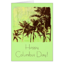 Tropical palms - Happy Columbus day ! Card
