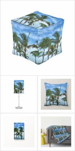 Tropical Palms Home Decor Accents