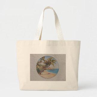 Tropical Palms Large Tote Bag