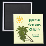 """Tropical Palms Personalized Cabin Door Marker Magnet<br><div class=""""desc"""">Tropical Palms Cruise Ship Cabin Door Marker. Personalize with your name, or substitute any text you like. A thoughtful bon voyage gift! Cruise Ships keep getting bigger and bigger. The hallways with longer and longer rows of cabin doors that all look alike.! Mark YOUR stateroom door with a Staterooom Door...</div>"""