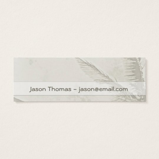Tropical Palms (skinny / bookmark) Mini Business Card