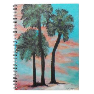 TROPICAL PALMS SUNSET Photo Notebook