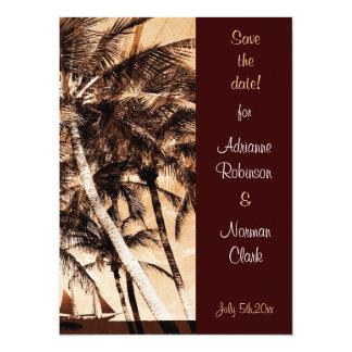 Tropical palms wedding invitation