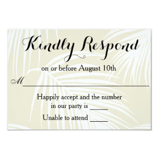 Tropical Palms Wedding RSVP Card