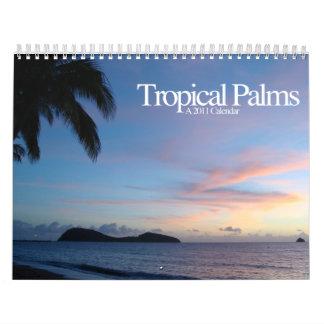 Tropical Palms Calendar