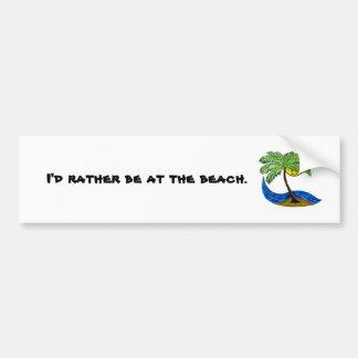 Tropical palmtree bumper sticker