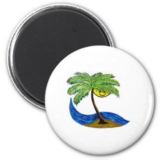 Tropical palmtree fridge magnets