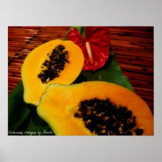 Tropical Papaya Print
